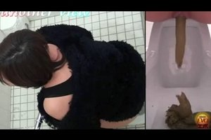 Pooping girl in japanese toilet 3