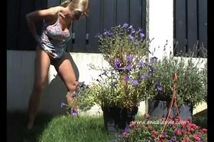 Blond outdoor diarrhea and pissing