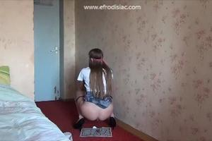 Another video with pooping Russian girl