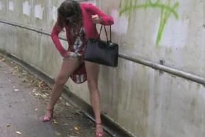 Woman pissing all the legs