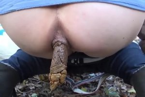 Woman shit in nature