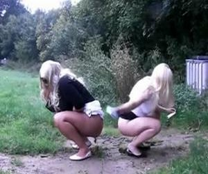 Girls pooping ass to ass